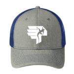 Logo-Trucker-hat-bluegrey-front